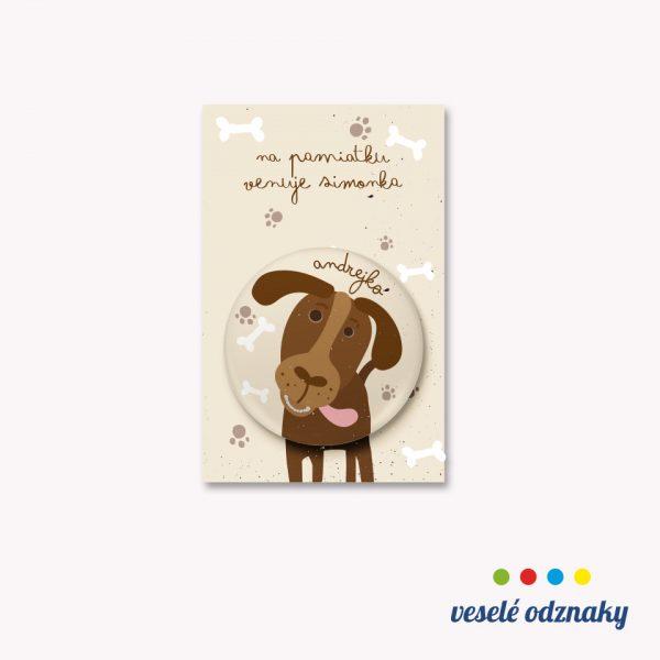 Odznak a magnetka s motívom psík
