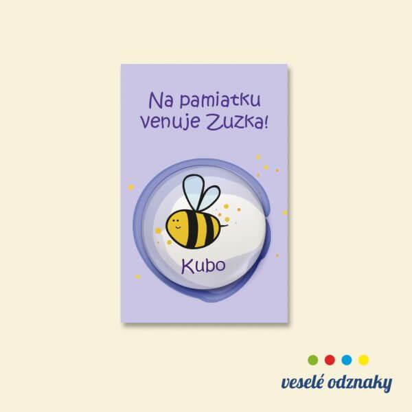 Odznak a magnetka s motívom včielka