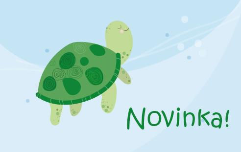 Odznak a magnetka s motívom korytnačka