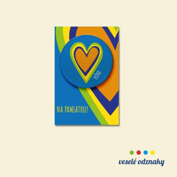 Odznak a magnetka s motívom srdce